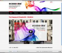 Screenshot econo:me Website